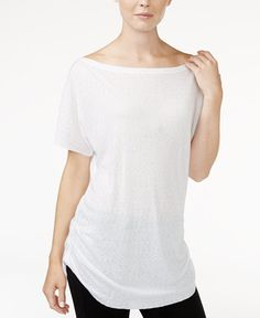 39.00$  Buy now - http://viohz.justgood.pw/vig/item.php?t=iy9sknn17471 - Ruched Boat-Neck T-Shirt, Only at Macy's 39.00$