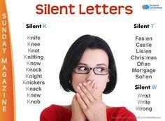 ' Silent letters ' SUNDAY MAGAZINE