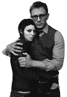 The girl with the dragon tattoo - one of my favorite character couples! Daniel Craig was so freaking hot in this movie
