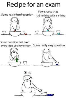 recipe for an exam.