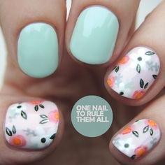 One Nail To Rule Them All: Vintage Orly Flowers