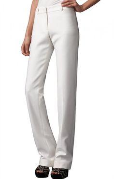 Elaide Mid Rise Straight-Leg Trousers, $189.00