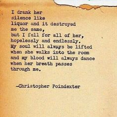 Love - Christopher Poindexter. Love notes.