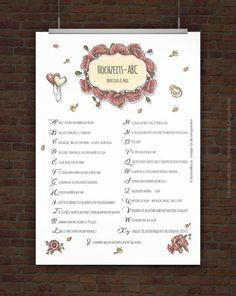 Druckvorlage Print PDF Pflegeanleitung Hochzeit