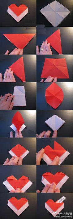 heart origami