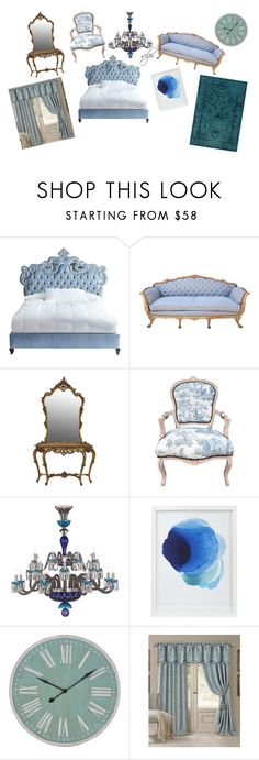 """""""blue"""" by silviasilpi99 on Polyvore featuring interior, interiors, interior design, home, home decor, interior decorating, Haute House, Patina Vie, Saint-Louis Crystal and Crate and Barrel"""