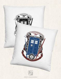 Fandom crest pillow crest of the knight of fandom / Supernatural, Doctor Who, Sherlock, Avengers, Potter, Star Trek, Merlin, Hobbit