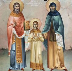 Saints Raphael, Nicholas and Irene, On Bright Tuesday (April 14) - two days after the Holy Easter. Saints New Martyrs Raphael, Nicholas and Irene suffered martyrdom by the Turks on the island of Lesbos (or Lesvos ), Greece , on Bright Tuesday ( April 9 , 1463), after the fall of Constantinople . St Raphael was the Abbot of Karyes near the village of Thermi on the island. St Nicholas was a deaco