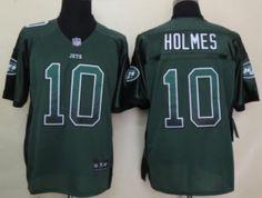 Nike New York Jets #10 Santonio Holmes 2013 Drift Fashion Green Elite Jersey