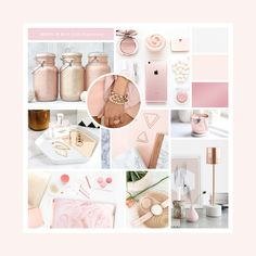 Rose Gold & Marble Inspiration Board by Seaside Creative.