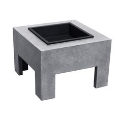 The Monolith Fire Nook by Astella features crackling flames and warming ambiance. This lightweight fire pit features a modern minimalistic design in a pale gray Cement finish that complements almost any other patio furniture theme. Its heat-resistant magnesium oxide construction is both long-lasting and durable enough to withstand a fire's high heat or winter's bitter chill. Visit PatioProductsUSA.com to purchase now! #firenook #outdoorfirenook #patiofirenook Rectangular Fire Pit, Magnesium Oxide, Wood Burning Fire Pit, Wood Logs, Fire Bowls, Fire Pit Backyard, Outdoor Fire, Outdoor Living, Basin