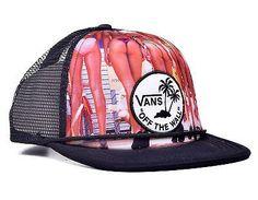 25acf33c1fd Vans Off The Wall Hank Bottoms Up Trucker Snapback Hat Size OS Vans Off The  Wall