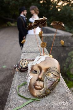 Steampunk mask - masque steampunk - Doucefleur Design