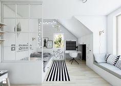 Bedroom Decor For Small Rooms, Attic Bedroom Small, Cool Rooms, Girls Bedroom, Teen Bedroom Designs, Teenage Room, Bedroom Layouts, Modern Room, My New Room