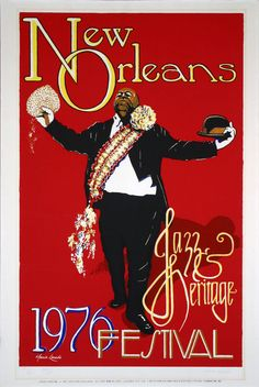 I want to get away to the Audubon Cottages in New Orleans! New Orleans Jazz & Heritage Fesitval Posters - 1976
