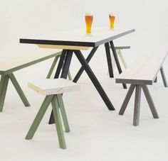 The Franzl Table and Bench furniture