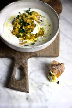 Creamy whipped feta with sweet carrot pesto