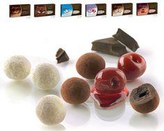 #Buratti #Confetti #Drageés: passione per l'eccellenza. Confetti tartufati di #cacao, #ciliegie tartufate, #noci tartufate e #panna e #cioccolato spolverati. http://bit.ly/1CCherw