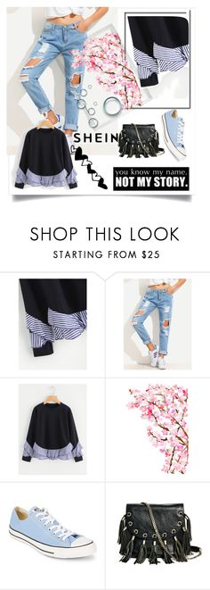 """""""my pretty set"""" by rude8 ❤ liked on Polyvore featuring Polaroid, Converse and GUESS by Marciano"""