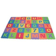 Play Blocks Indoor Outdoor Mat Daycare Learn Alphabet Play Preschool