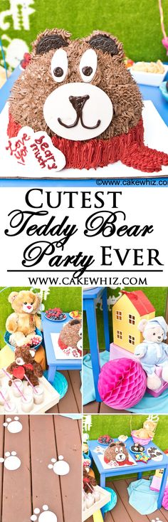 Throw the cutest TEDDY BEAR PARTY ever with these adorable printables and fun snack ideas. Plus, there are lots of cool ideas on setting up the perfect dessert table for kids. {Ad} From cakewhiz.com