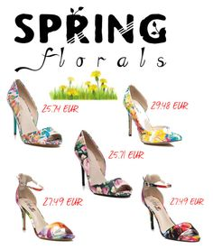 Designer Clothes, Shoes & Bags for Women Kitten Heels, Shoe Bag, Floral, Polyvore, Stuff To Buy, Accessories, Shopping, Shoes, Design