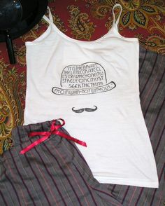 It turns out, my entire life, I've had a longing for Hercule Poirot-inspired sleepwear. I just never knew it before now.
