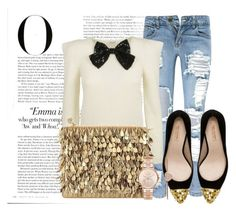 """""""Sem título #3642"""" by mr-1 ❤ liked on Polyvore featuring Boohoo, Forest of Chintz, Zara, Michael Kors and Vanity Fair"""