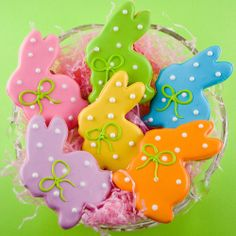 "Easter Cookies, Polka Dot Bunny Sugar Cookies (3""  size) - individually sealed. $15.00, via Etsy."