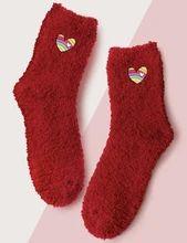 (1) Fuzzy Heart Slipper Sock – Pretty Feet Trinkets Bootie Socks, Slipper Socks, Slippers, Sock Ankle Boots, Cute Boots, Valentines, Heart, Pretty, Cute Shoes Boots