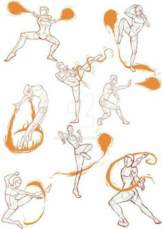 Manga Drawing Techniques Practice Sketches 4 (FireBender Poses) by - Art Tutorials, Drawing Tutorials, Drawing Techniques, Drawing Tips, Magic Drawing, Drawing Ideas, Figure Drawing Reference, Drawing Reference Poses, Anatomy Reference
