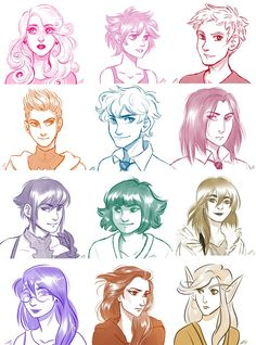 Various sketch commissions for ppl! Please don't use unless you were the person that commissioned them. I'm offering reduced price bust sketches for a while this summer, if you're interested please...