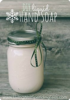 Great tutorial for making your own hand soap using leftover bar soap