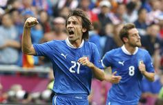 Italy vs Croatia 1-1 // Andrea Pirlo // Group C // Euro 2012 // city stadium in Poznan