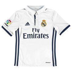Real Madrid adidas Youth 2016 17 Replica Home Jersey - White 66785f000