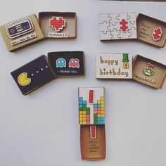 "138 Likes, 4 Comments - 3XU: Matchbox-cards & more! (@shop3xu) on Instagram: ""Geek mode ON: (left to right) 1. Will you be my Player 2? - Video game love card 2. You are my…"""
