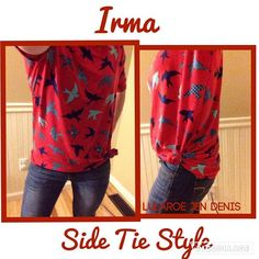 The Irma tunic is so versatile; try this side tie style to change things up! ❤️ #Irma #lularoe https://www.facebook.com/groups/lularoemikiunlimited/