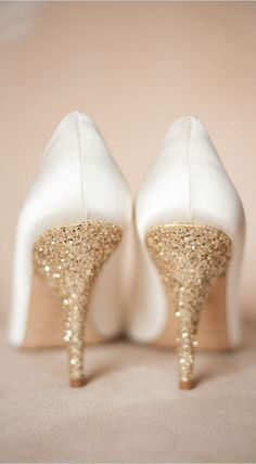 Gold Glitter Wedding Heels | Kate Spade