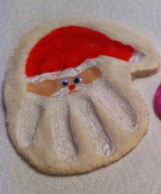 Santa handprint ornament.