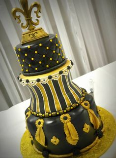 59 Best Saints Cakes Images Who Dat Groom Cake Cake Wedding