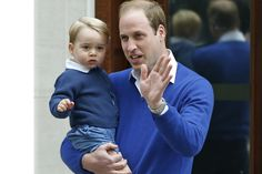 IT'S A GIRL!<3!<3!<3!<3! The two Princes on their way to be with their PRINCESSES!!!<3Prince William and his son Prince George - Alastair Grant/AP