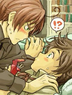 Spain, I think Romano wants to play the pocky game ;D