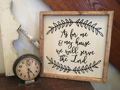 READY TO SHIP As For Me and My House We by TheRusticCountryHome