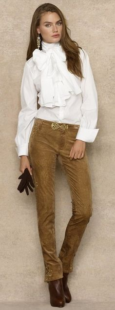 Ralph Lauren. NOW I know where to shop, love this look! Does any