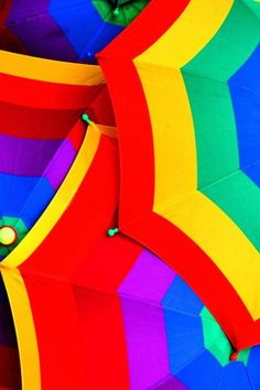 Rainbow umbrellas#colorful