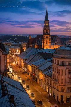 Beautiful night in Cluj Cologne, Romania, Big Ben, Cathedral, Night, Building, Places, Travel, Beautiful