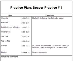simple timetable soccer - Google Search