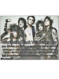 Black veil brides day. :3