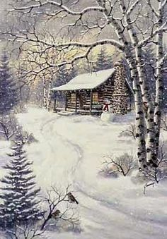 Snow Day - by Kathy Glasnap (winter art, illustrations) Christmas Scenes, Christmas Art, Pictures To Paint, Art Pictures, Watercolor Landscape, Landscape Paintings, Winter Szenen, Illustration Noel, Art Illustrations