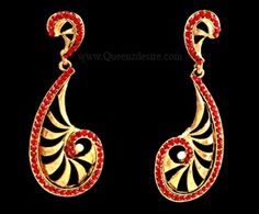 Polki Earring  [QDPER09]  Designed with Polki design, these are sure to lend you a sophisticated look